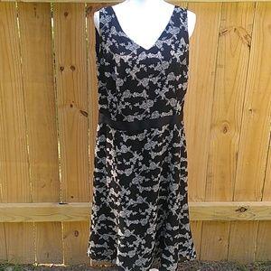 2/$13 Danny & Nicole Black Floral Dress